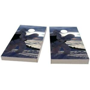 Snow Boarder in White Cornhole Boards - The Perfect Christmas Gift