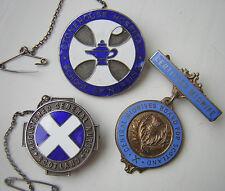 Stonehouse Hospital nurses badge RARE plus Scottish nurse + midwife badges '50's