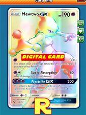 RR Mewtwo GX - Rainbow Rare - Pokemon TCG Online ( DIGITAL ptcgo in Game Card)