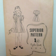 Superior 9796 - Wonderful Vintage Classic Dress with Pleated Detail - Girls 10
