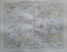 Geschichte Österreich-Ungarns 1896 historische Karte antique map Osztrák-Magyar