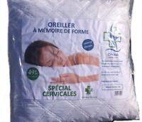 Lot de 2 Oreillers a mémoire de forme pharmaceutique optima60x60cm SP CERVICALES