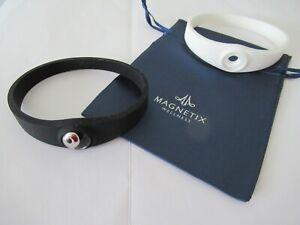 Magnetic Bracelet, Wristband,XL, Magnetix Wellness NEW: Ying Yang; 2 black-white