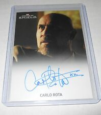 Marvel Agents of SHIELD Season 1 Autograph Trading Card Carlo Rota as Luca Russo