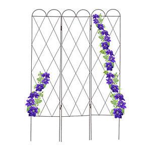 Rankgitter Rostoptik, Blumengitter Rankhilfe Rosen Spalier Metall Pflanzengitter