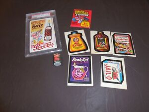 Wacky Packages First Issue 1974 Sealed Pack Wacky Ad Lot of 8 Items