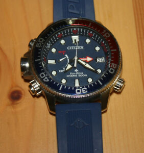 Citizen Promaster Eco-Drive Blue Dial Blue Rubber Strap Men's Watch BN2038-01L