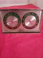 Springfield Instruments Plastic Desk Wall  Barometer Thermometer