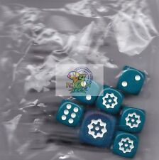 Pokemon dice from Steam Siege box Teal 12mm/16mm dice set 7 dice pieces