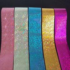 5pcs set Nail Art Holographic Silver Gold Pink Blue Foil Transfer Glitter Sticke