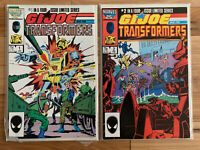 Marvel G.I. Joe and the Transformers #1 & 2 - Published 1987 - Great Condition