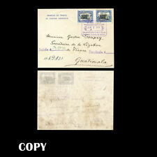 GUATEMALA 1911 25c center inverted, cover to Secretaire de la Legation   COPY