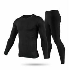 Men Fleece Lined 100% Cotton Thermal Long Johns Top Bottom Underwear Set Winter