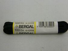 BERGAL SCHWARZ 6mm FLACH 100cm LANG GEWACHST SCHNÜRSENKEL SENKEL ARBEITSSCHUH