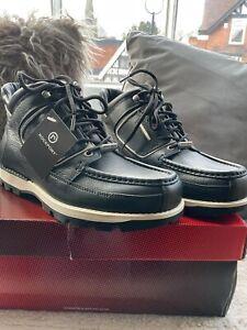 VINTAGE Rockport MWEKA Black/Ecru XCS Boots Size 9 UK Made In PORTUGAL RARE. NEW