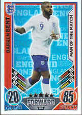 MATCH ATTAX 2012 EUROSTARS Darren Bent ENGLAND Man Of The Match Card No.188