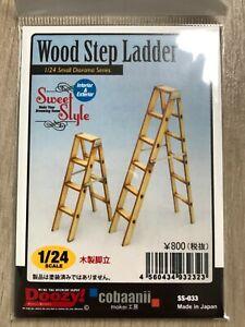 "1:24 - 1:25 ""Wood Step Ladder"" Kit for Diorama Garage - Drive Inn / Doozy"