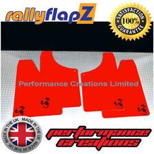 rallyflapz FIAT 500 ABARTH PARAFANGHI & KIT MONTAGGIO ROSSO ' SCORP ' Nero - 4mm