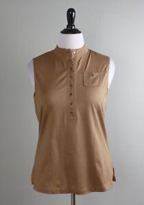 JAMIE SADOCK NWT $89 Snap Up Sleeveless Golf Top in Chipmunk Size Large