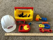 Little Tikes Toolbox Measuring Tape Hard Hat Construction Wrench Tools Screws