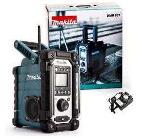 Makita DMR107 Baustellenradio Radio 7,2 18 V IP64 mit Netzteil o. Akku 2x LineIn