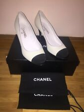 Brand New Chanel White and black tip pumps size 40