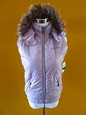 Calvin Klein Jeans Lilac Girls Vest w/ Removable Hood Puffy Size XL NEW w/Tags