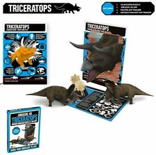 Jurassic 4D Wooden Dinosaur Puzzle With Augmented Reality App ~ Triceratops