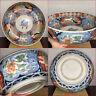 "Large 12""D Japanese Edo 19thC Hizen Arita Imari Porcelain Bowl Kirin & Dragon"