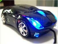 3D Car Shape USB Optical LED Wired Mouse Mice For PC Laptop Computer Desktop NEW