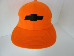 Vintage Chevy Chevrolet Hunters Orange T.R. McTaggart USA Snap Back Cap Cotton