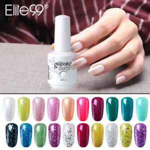 Elite99 Gel Nail Polish Bling Colours Lacquer DIY Soak Off UV LED Base Top Coat