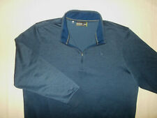 Under Armour 1/2 Zip Long Sleeve Navy Blue Fleece Lined Pullover Mens 2Xl Exc.