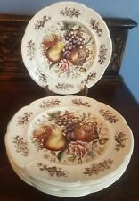 Johnson Brothers Windsor Ware Fruit Dinner Plates Set of Six (6)