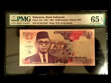 Indonesia 10000 Rupiah 1997 World Paper Money UNC Currency - PMG Certified