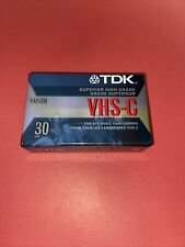 New listing 2-Pack Tdk Tc-30 Ehg Vhs-C Video Cassette Extra High Grade New Sealed