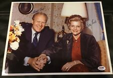 Gerald Ford & Betty Ford Psa Authenticated Signed 11X14 Color Photo