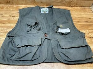 White River Fly Shop, Green Fishing Vest, Size Large, Fly fishing