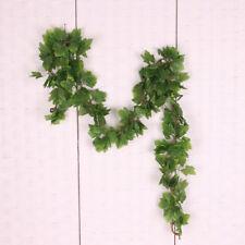5Pcs Artificial Green Grape Leaf Hanging Flower Ivy Vine Party Home Decor