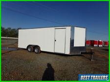 2021 enclosed cargo carhauler motorcycle trailer white 8 x 20 box white 8.5x20
