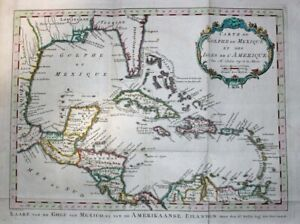 1772  Large Bellin Map of Gulf of Mexico, Florida,West Indies