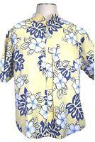 Natural Issue Men's L Hawaiian shirt,  Yellow Tropical ~ Flaw