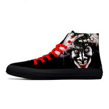 First Dance Skull Print Canvas Shoes for Men High Top Punk Rock Fashion Sneakers