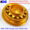 L-Weight Racing Crankshaft Pulley Underdrive For Honda 92-95 Civic SOHC D16 GOLD