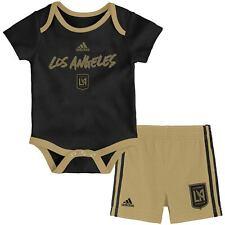 LAFC Newborn & Infant Black Locker Stacked Bodysuit & Shorts Set
