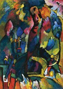Vasily Kandinsky - Large A2 size 42x59.4cm Canvas Art Print Poster Unframed