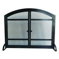 "Masonry Fireplace Screen Doors Black Steel Heavy Duty 1 Panel 39"" x 12"" x 31"""