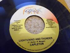 "CAPLETON - LIGHTENING AND THUNDER - REGGAE - DANCEHALL - JAMAICA - 7"""