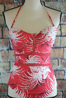 NWT La Blanca Women's Swimwear Red Size 6 Bandeau One Piece Swimsuit $129 ~B42