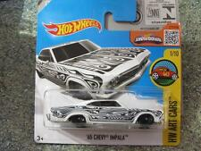 Hot Wheels 2016 #191/250 1965 Chevy Impala Blanco HW Arte coches caso J